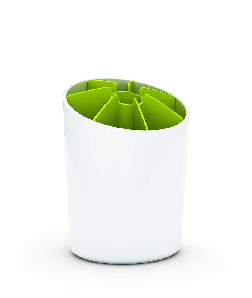 Подставка для столовых приборов Segment™ бело-зеленая