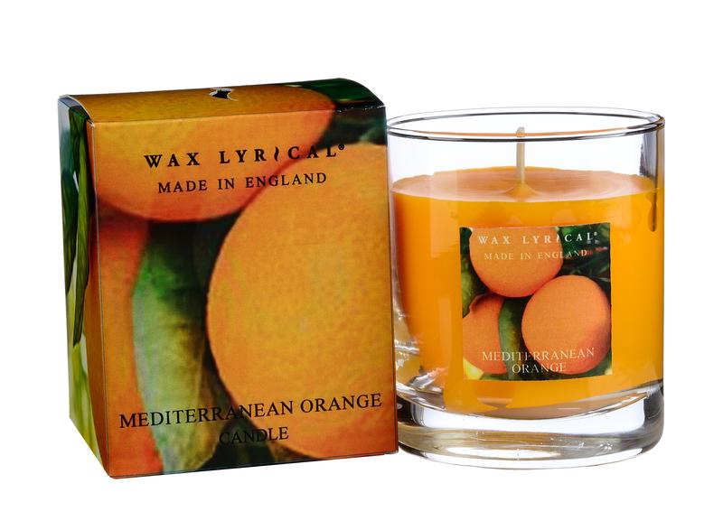 Солнечный апельсин ароматическая свеча в стекле