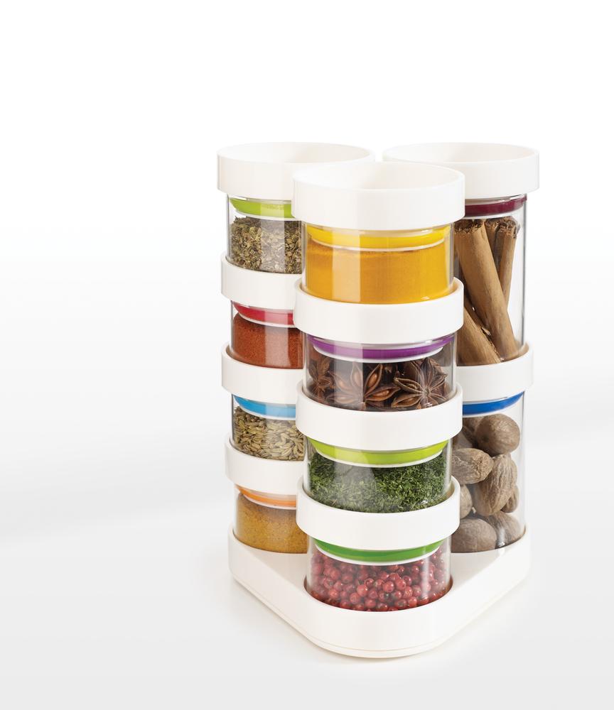 Набор емкостей для хранения специй Spice Store™ Carousel белый