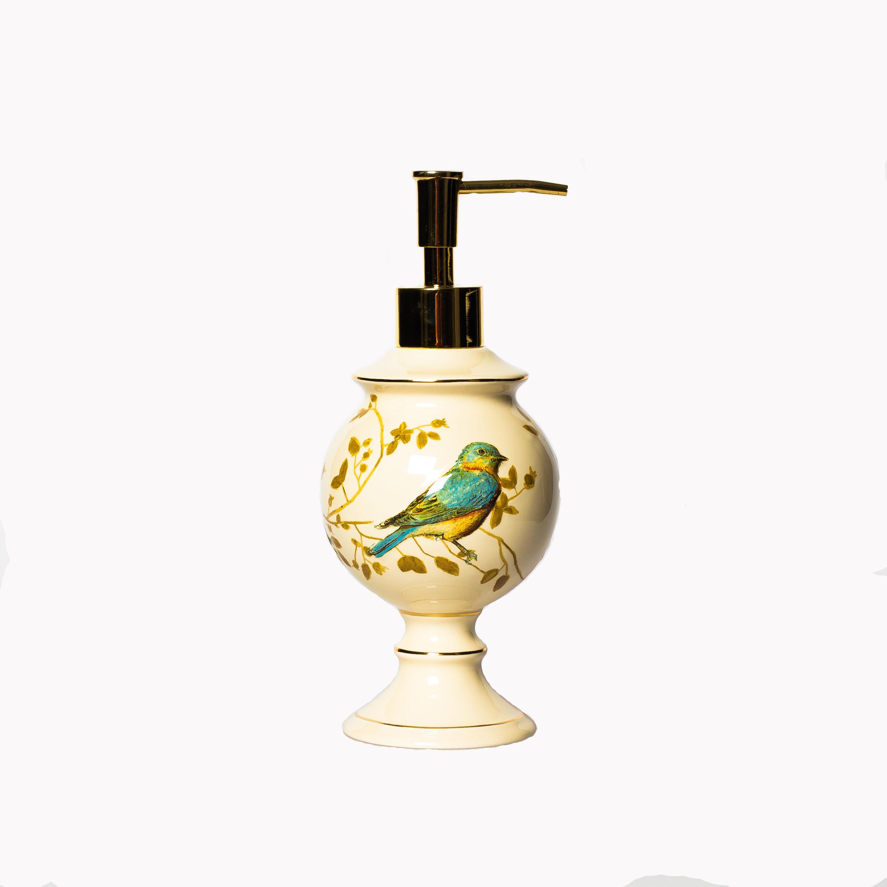 Дозатор для жидкого мыла Gilded Birds