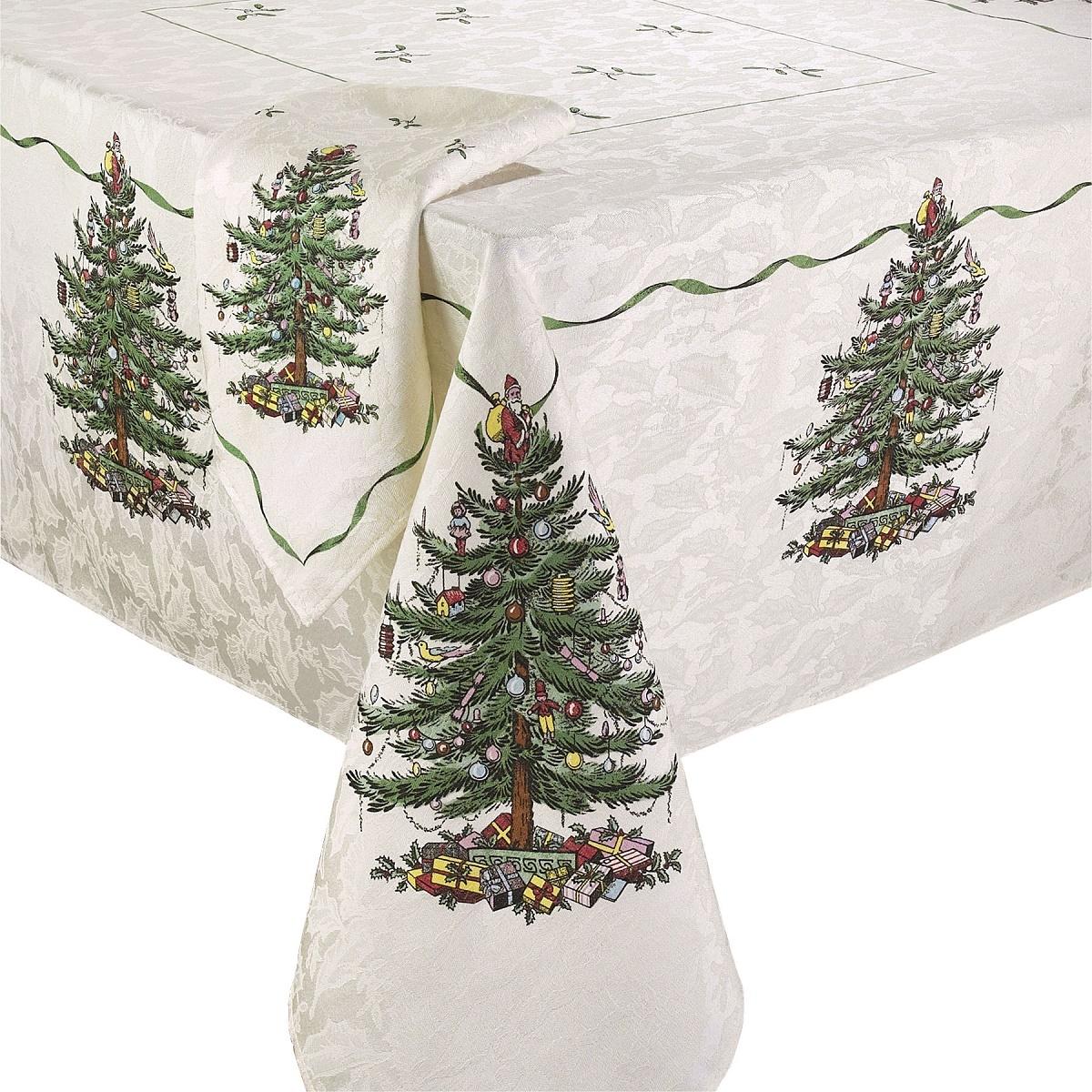 Кухонная скатерть круглая 178 см Spode Christmas Tree