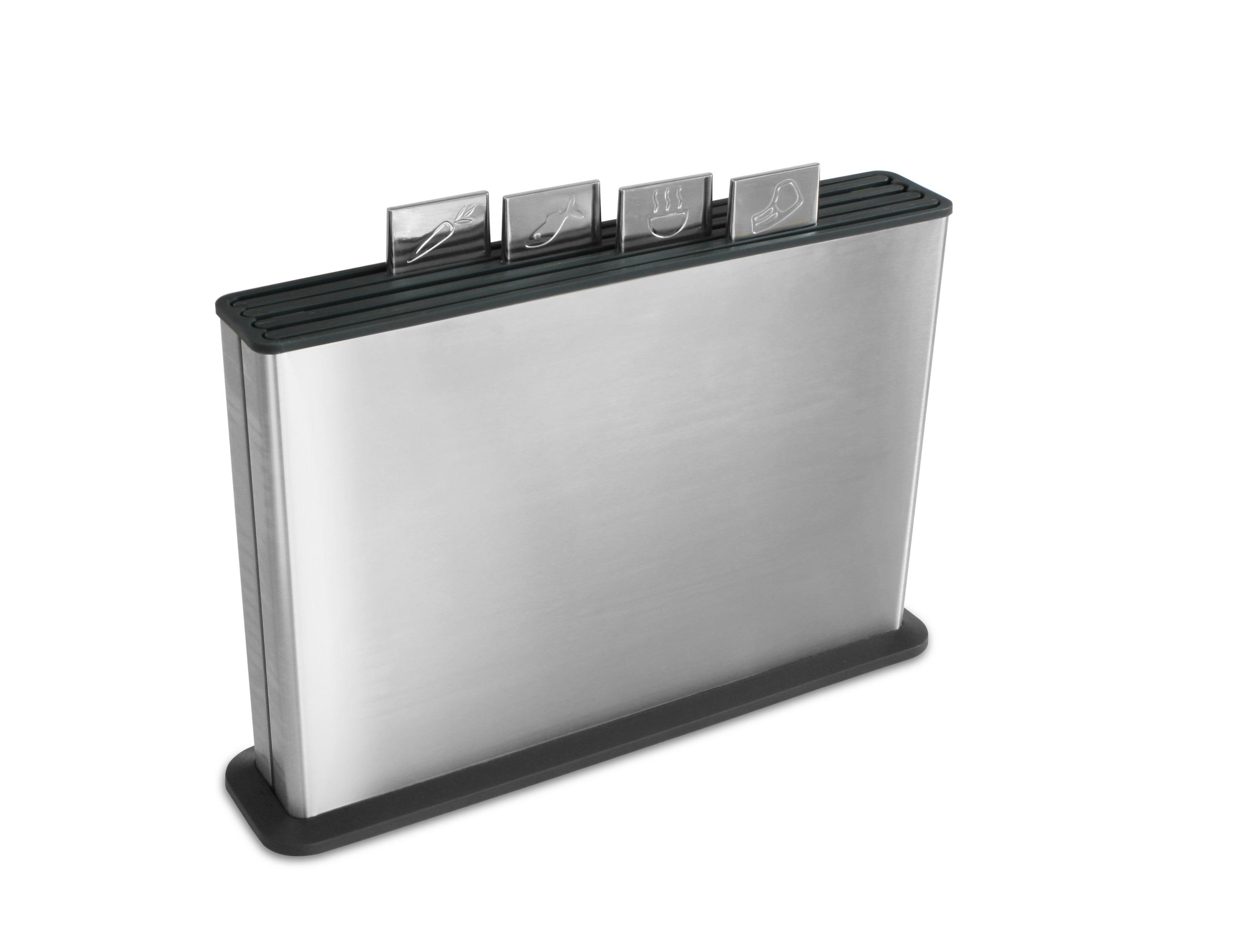 Набор разделочных досок в стальном кейсе Index™ 100 сталь/графит