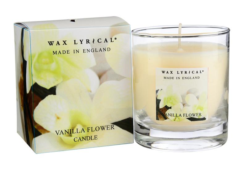 Сливочная ваниль ароматическая свеча в стекле